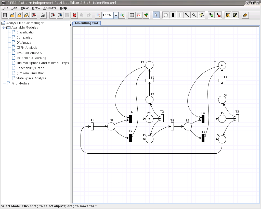 Platform Independent Petri Net Editor 2 Piping Diagram Program Pipe2 V25 Screenshot